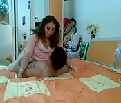 Chubby Egyptian woman fucked in the bedroom