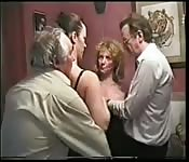 that my boss and me in threesome confirm. was and