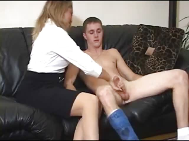 Blonde Mom Helps Son Pov